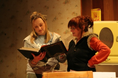 Alison Holroyd as Lucy (left) and Eithne Browne as Sally (right) (photograph by George Coupe)