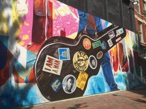 Mural downtown Memphis - the next stop on the my trip.