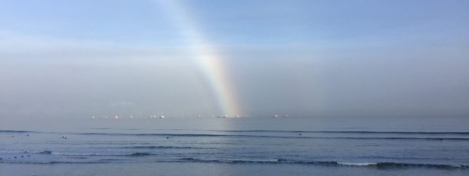 Rainbow over the North Sea - Aberdeen